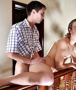 Hot sissy guy seduces his horny mate into hard bumming after oral foreplay