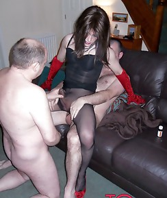 Kirsty gets her TGirl ass and mouth tossed around and used at a filthy fuck party.