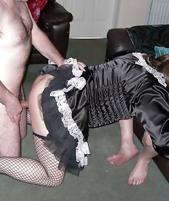 Sexy Kirsty sits back and watches her two gorgeous TGirl friends sucking and fucking.