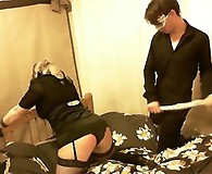 Kirsty ties up a blonde slut and then proceeds to spank and tease her sweet and juicy ass.