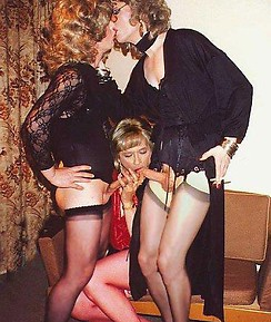 Crossdressing sluts smoking and sucking lots of hard cock