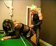 TV Slut Zoe gets her cock sucked by slutty crossdresser