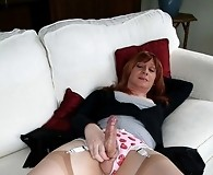 Dirty Lucimay drinks a glass of her own fresh warm cum