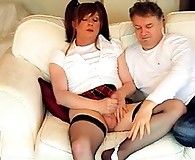 Filthy crossdresser Lucimay gets her ass spanked hard