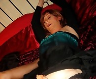 Luci gets her cock tied up and sucked by guest Strapon Jane