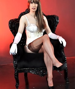 This horny TGirl loves to be adored on her throne