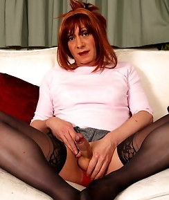 Sexy TGirl slut Lucimay loves to play with that hard cock of hers