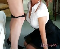 Hardcore deepthroat cock sucking for these two dirty Tgirls